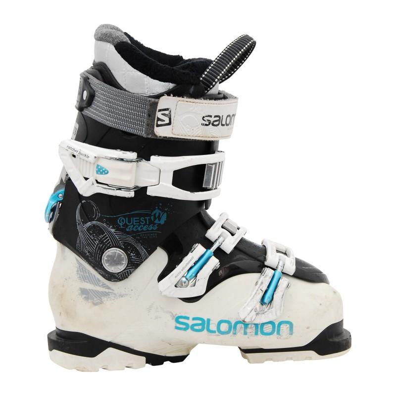 Chaussures de ski occasion Salomon Quest access R70 W noir qualité A