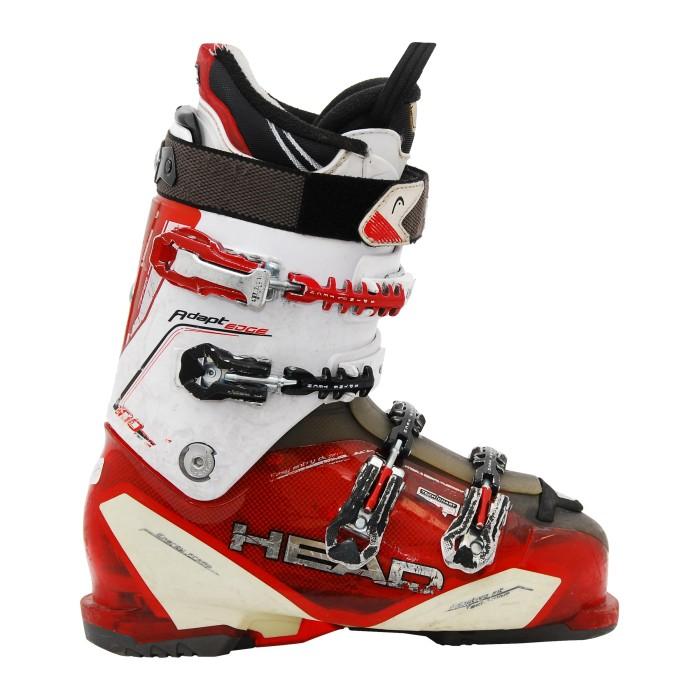 Gebrauchter Skischuhkopf passt Kante 100 rot weiß an
