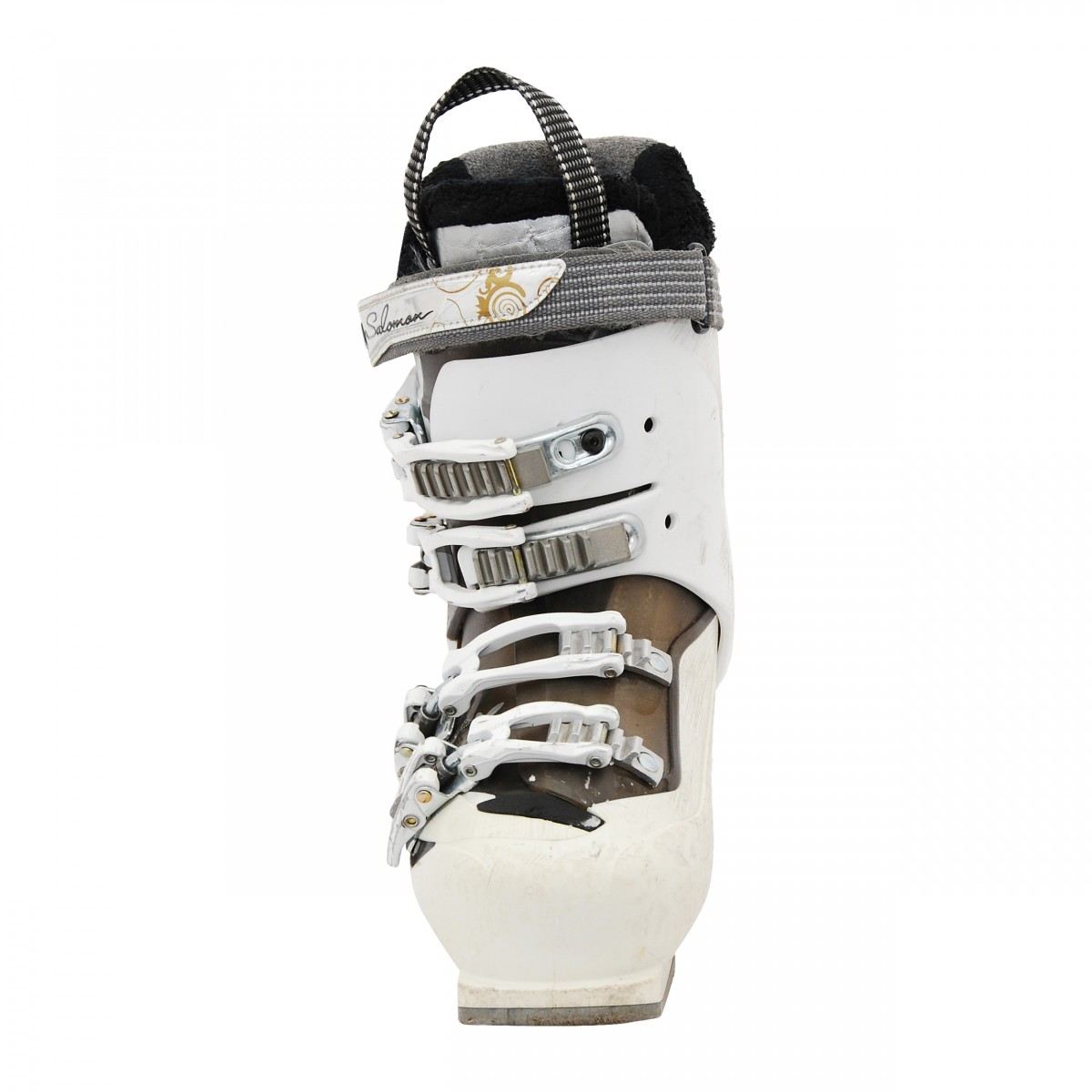 Détails sur Chaussure de ski occasion Salomon modèle Divine blanc