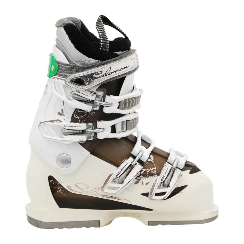 Chaussure de ski occasion femme Salomon Divine 770 blanc/noir qualité A