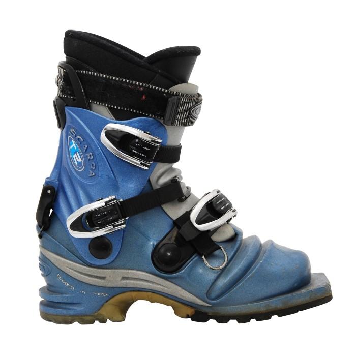 Chaussure de ski occasion de télémark Scarpa T2 w bleu clair