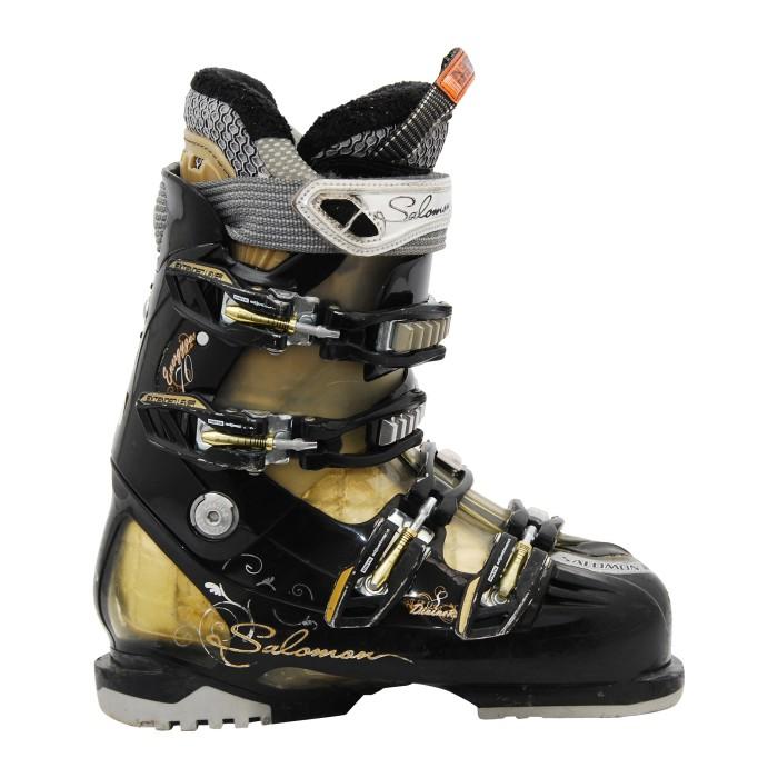 Bota de esquí usada Salomon Divine 8 oro negro