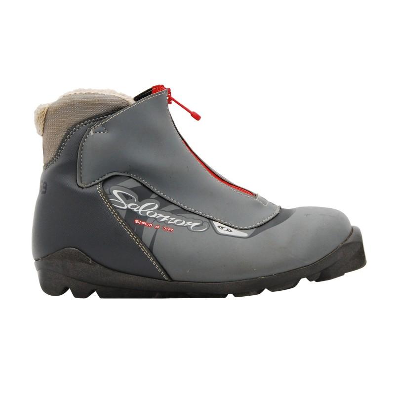 Chaussure ski fond occasion Salomon Siam 5 TR gris qualité A