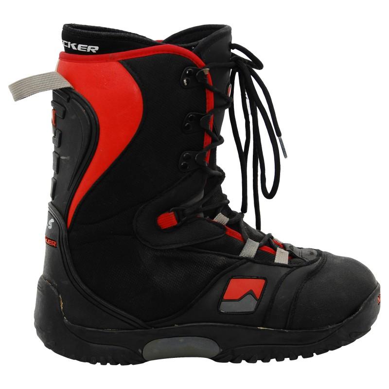 Boots occasion Nidecker noir rouge qualité A
