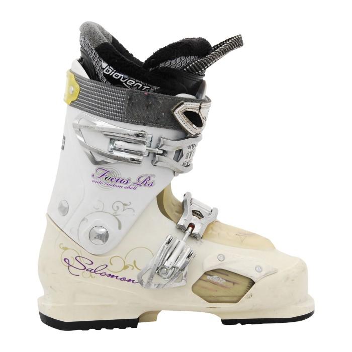 bota de esquí blanca RS de Salomon focus