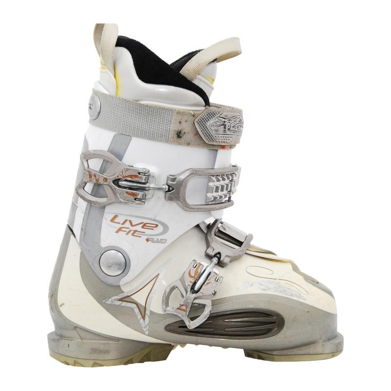 Chaussure de ski occasion Atomic femme live fit plus blanc gris