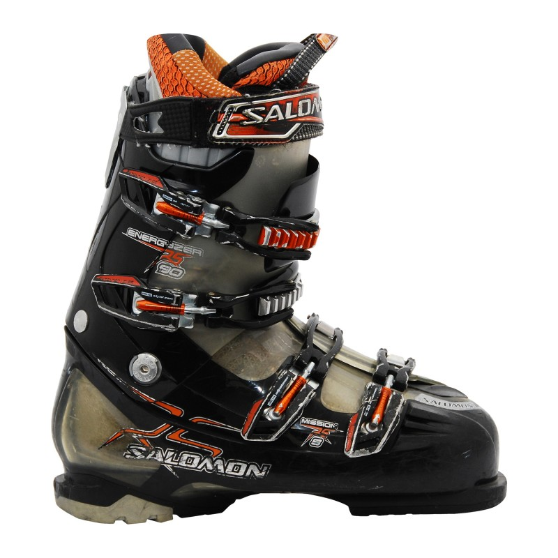 Chaussure de ski Occasion Salomon Mission 8 noir et orange