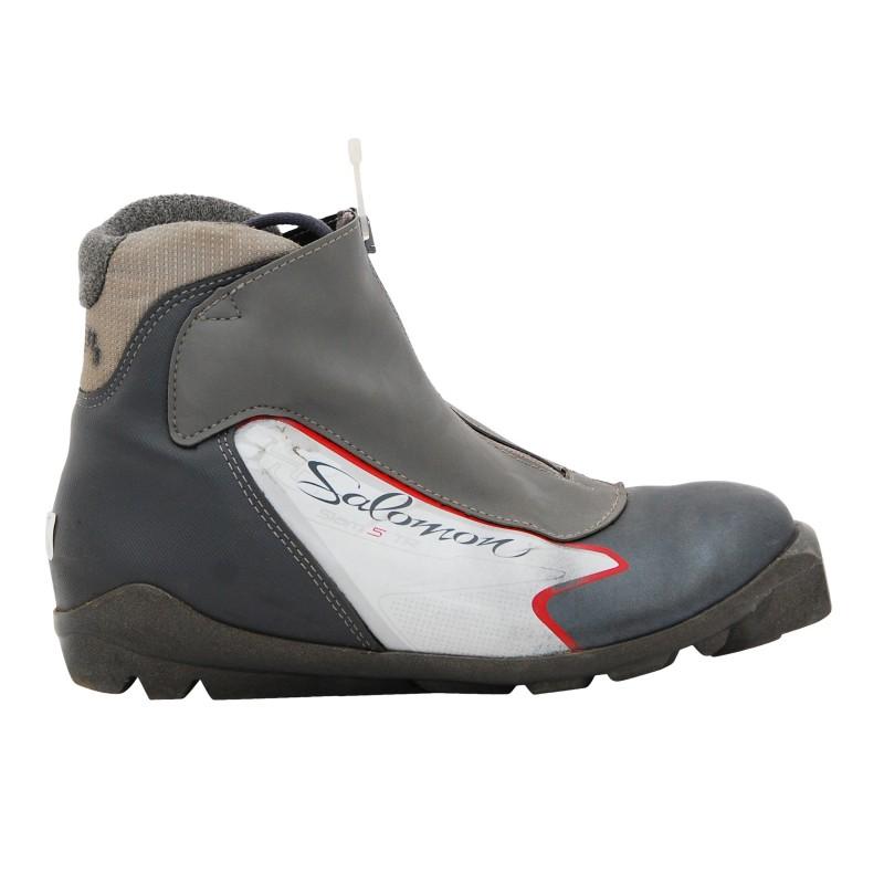 Chaussure ski fond occasion Salomon Siam 5 TR noir/gris