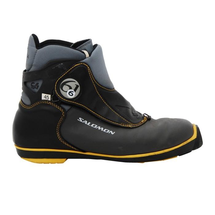 Chaussure ski fond occasion Salomon 6.61 noir SNS profil