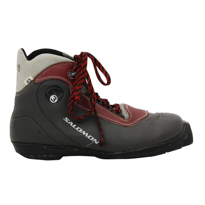 Salomon 3.61 burgundy grey cross-country ski boot