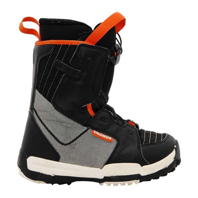 Boots occasion junior Salomon Thalapus noir/gris/rouge
