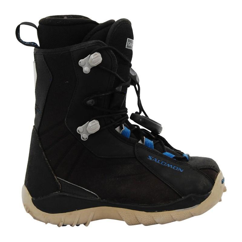 Boots occasion Salomon Kamooks noir et rouge