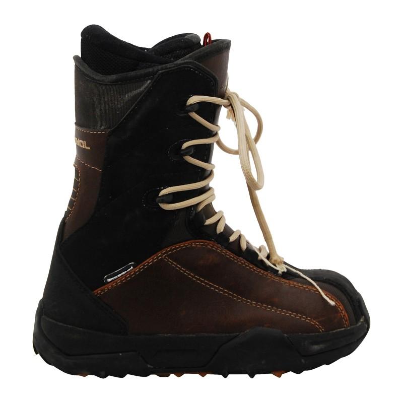 Boots occasion Rossignol marron et noir