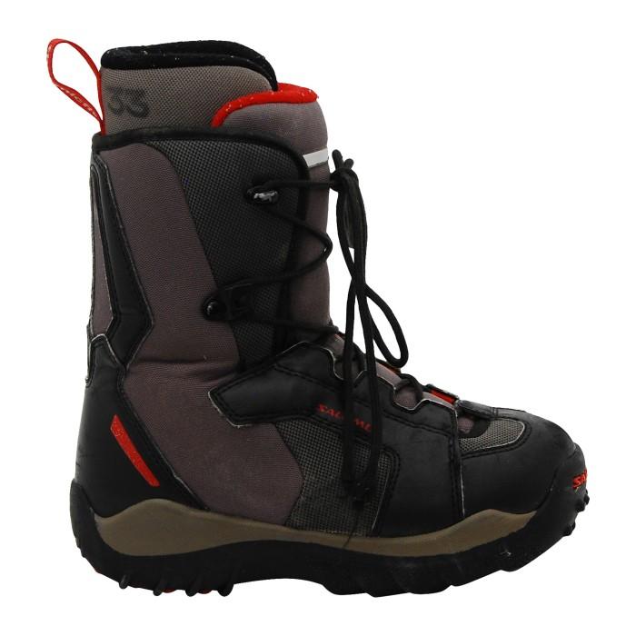 botas Salomon negras / grises / rojas