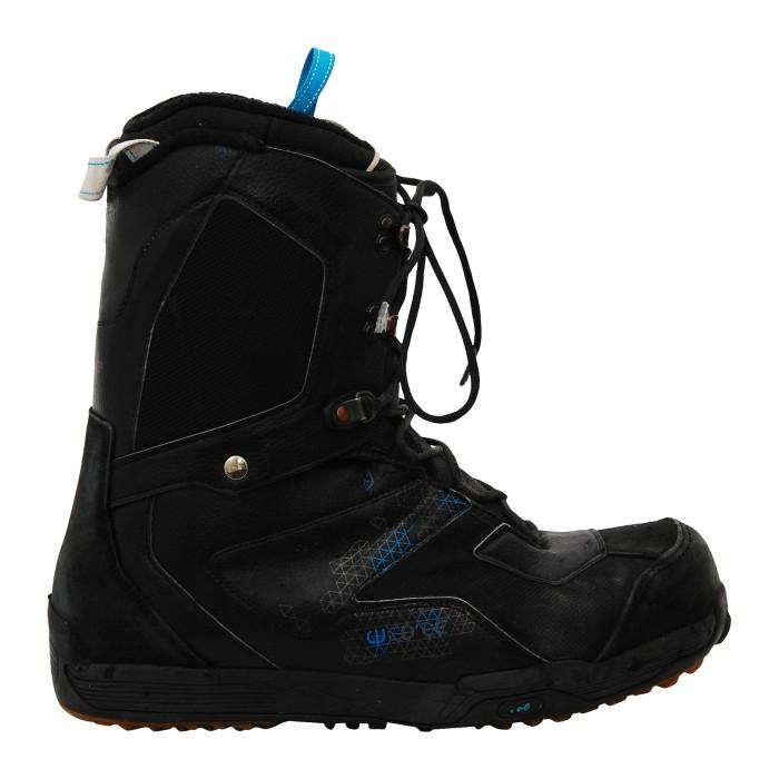 Boots occasion Wed'ze quadrillé noir/bleu