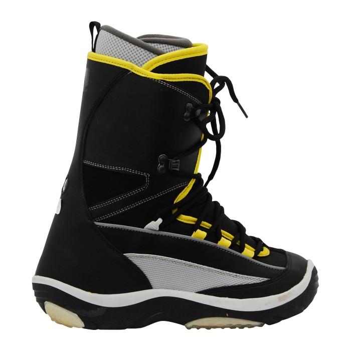 O'sin Millennium Yellow Black Used Snowboard Boots