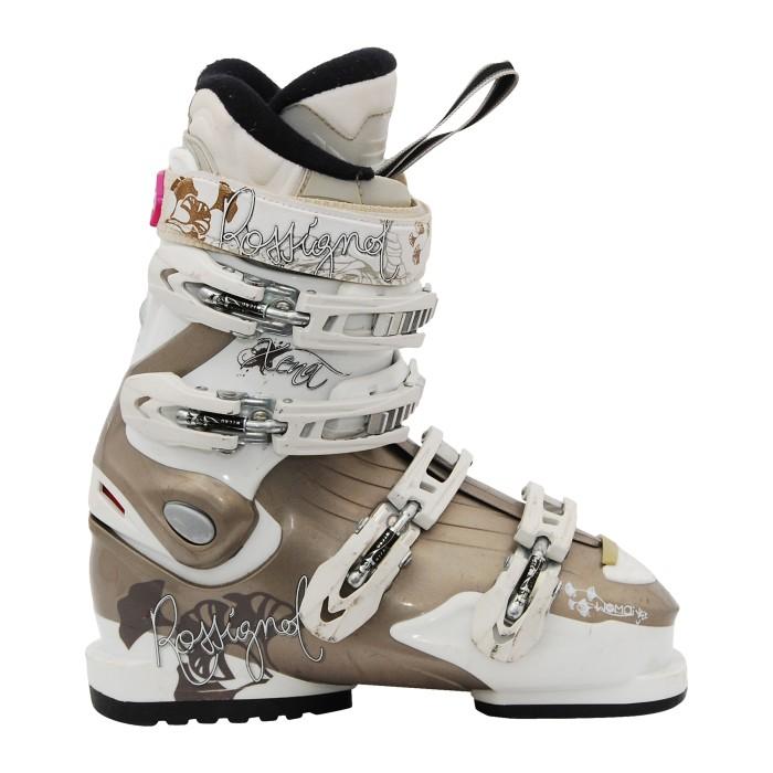 Used Rossignol xena white bronze ski boots
