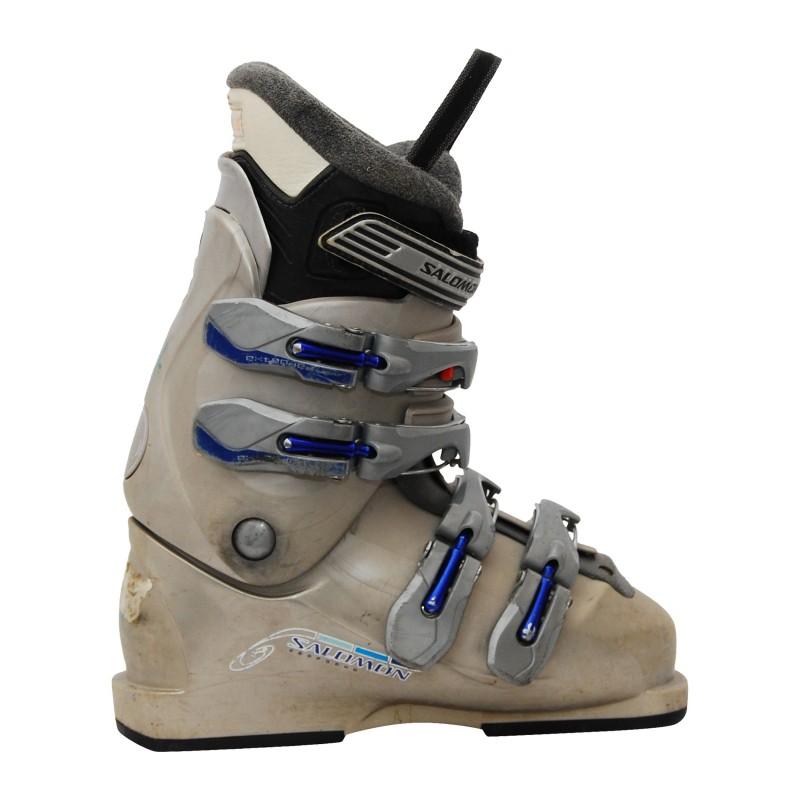 Chaussure de ski occasion Salomon performa beige qualité A