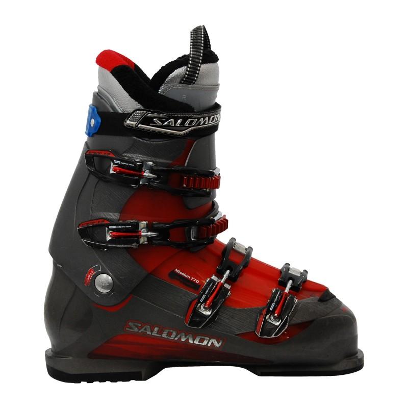 Chaussure de ski occasion Salomon mission 770 gris/rouge noir/rouge qualité A