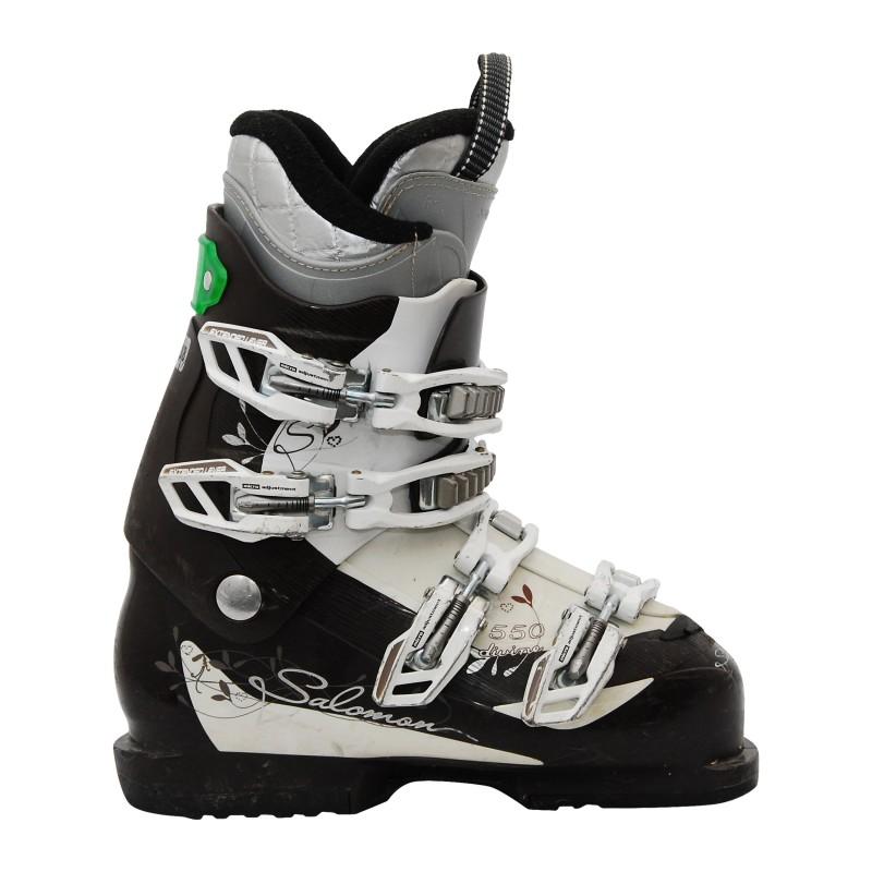 Chaussure de ski occasion Salomon Divine 550 marron blanc qualité A