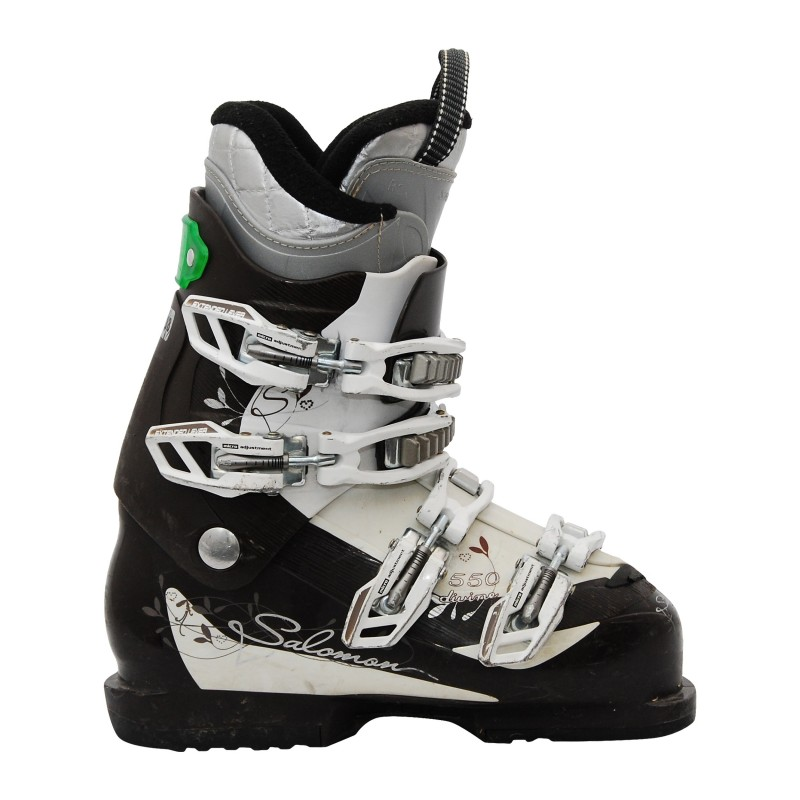 Women's used ski boot Salomon Divine 550 brownwhite