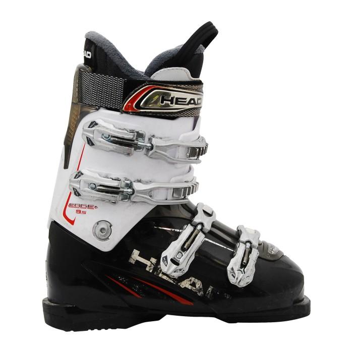 Blanco y negro Borde de la cabeza usado bota de esquí