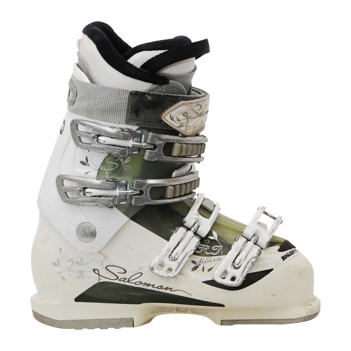 Chaussure de ski occasion Salomon Divine RT blanc/translucide