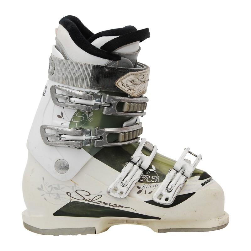 Chaussure de ski occasion femme Salomon Divine RT blanc/gris qualité A