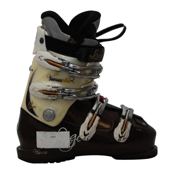 Chaussure de Ski Occasion Lange Venus Plus R Blanc/marron