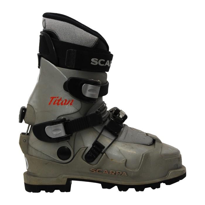 Chaussure ski randonnée occasion Scarpa titan gris