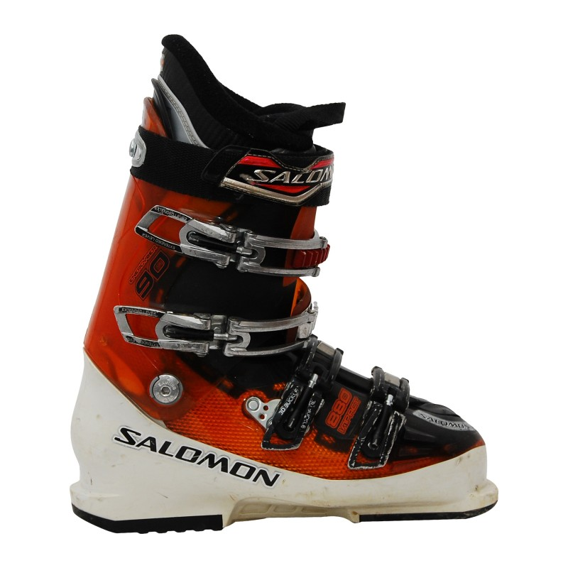 Chaussure de ski occasion Salomon Impact 880 blanc/orange