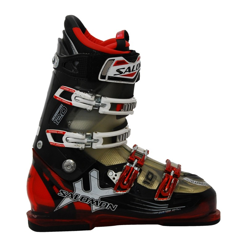 Chaussure de ski Occasion Salomon impact 110 blanc/orange