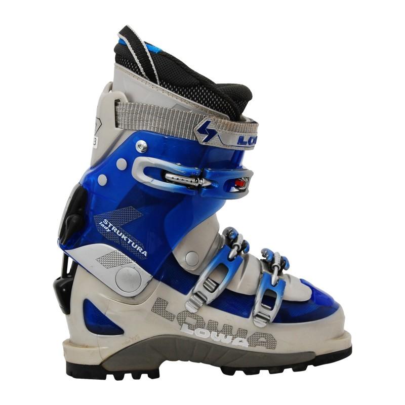 Chaussure ski randonnée occasion Lowa Struktura lady bleu gris qualité A
