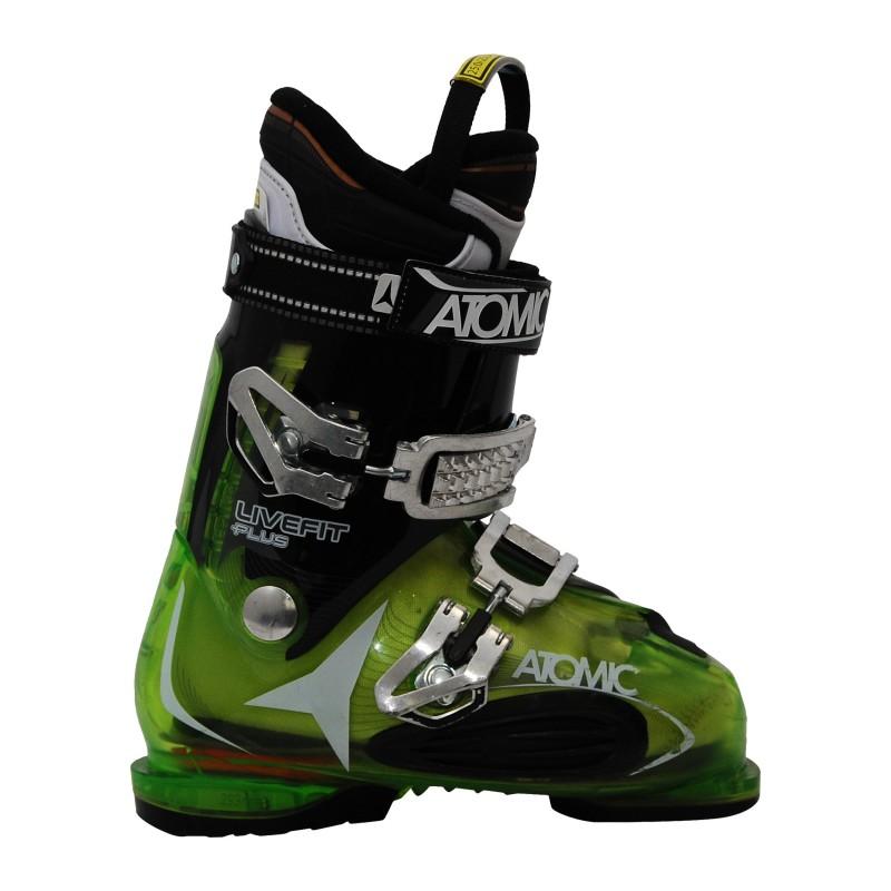 Chaussures de ski occasion Atomic live fit plus vert/noir