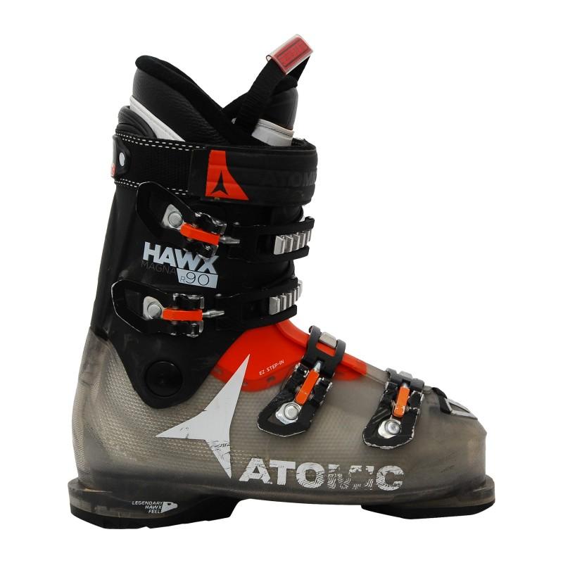 Chaussures de ski occasion Atomic hawx magna R 90 noir/translucide qualité A