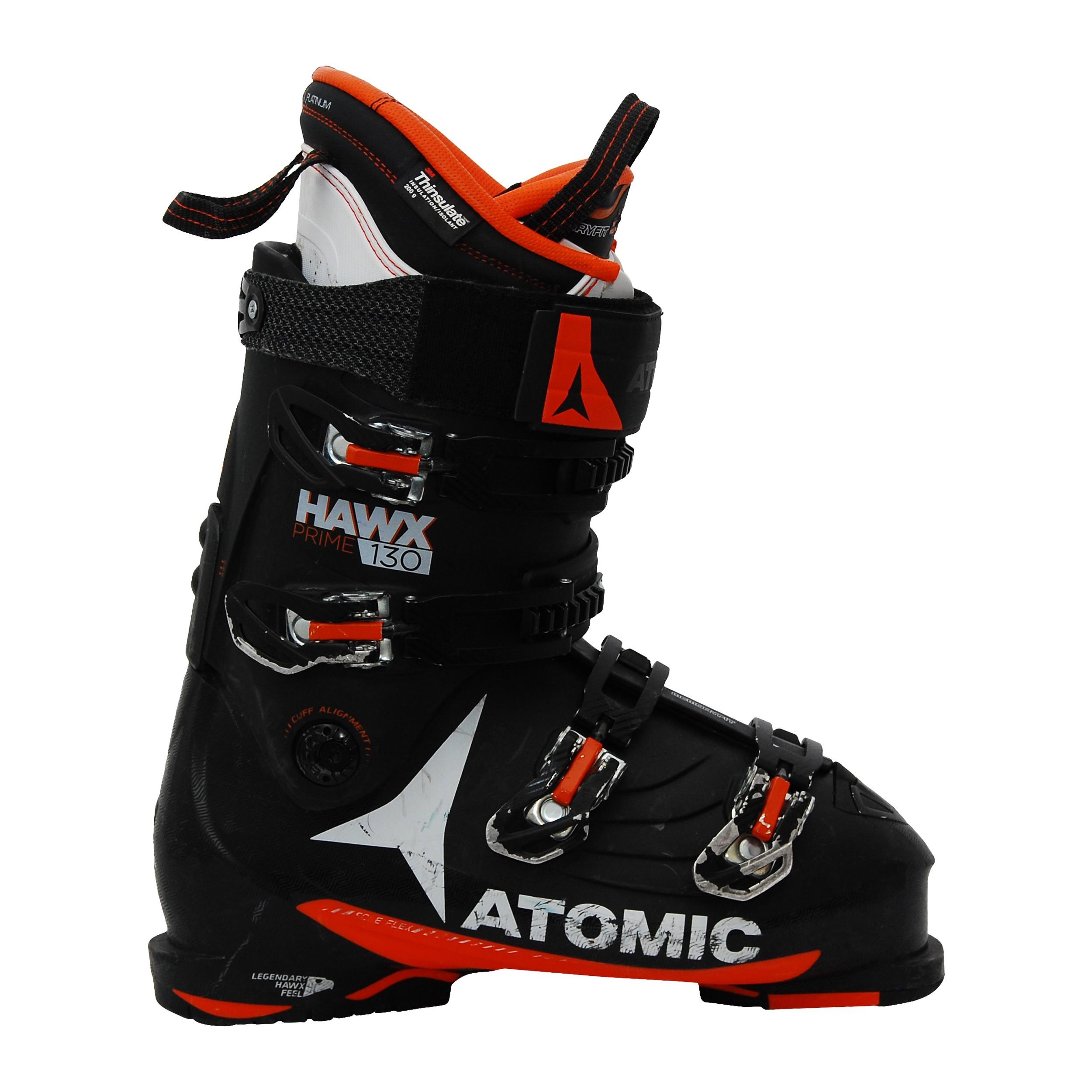 Chaussures de ski occasion Atomic hawx Prime 130 noir orange