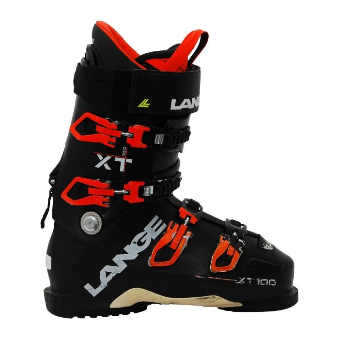 LANGE XT 100 orange schwarz gebrauchter Skischuh