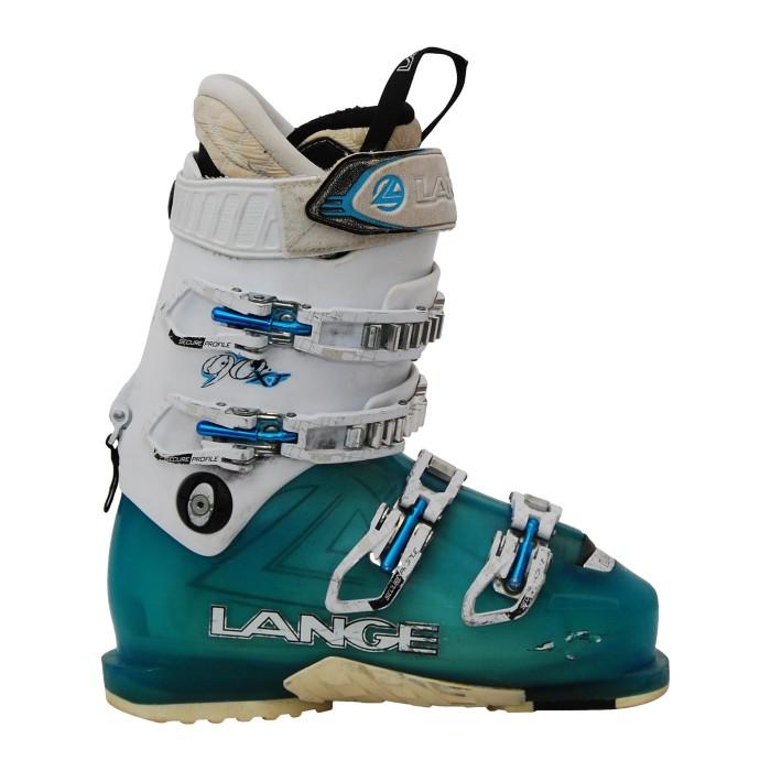 Ski Gebrauchtschuh LANGE XT 90 w weiß blau