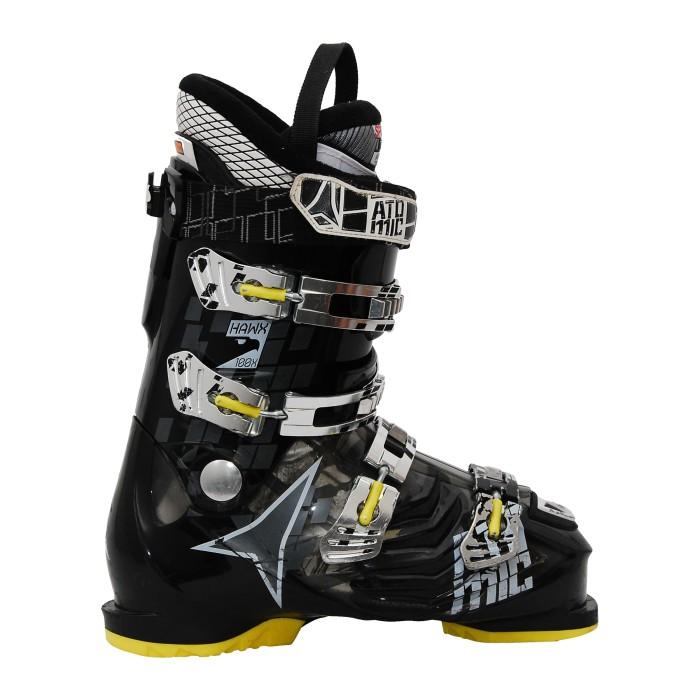 Chaussure de ski occasion Atomic Hawx 100x noir jaune