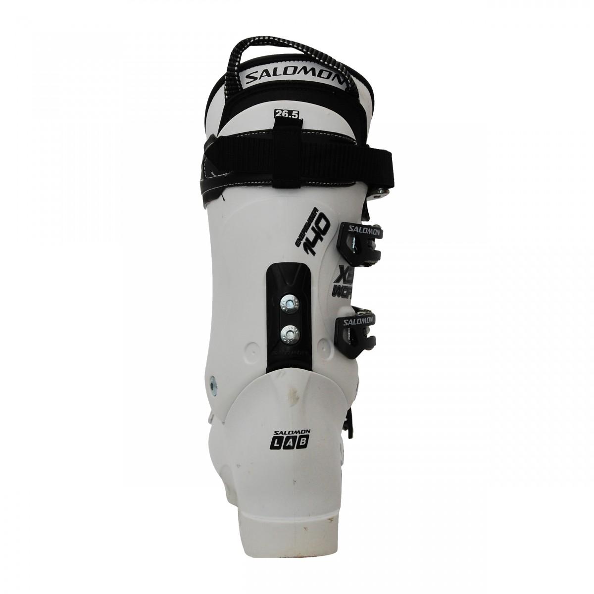 Détails sur Chaussure de ski occasion Salomon X3 LAB WC 140 blanc