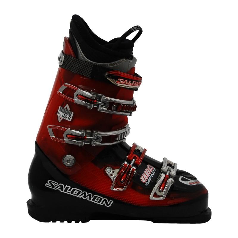 Chaussure de ski Occasion Salomon impact 880 rouge noir translu