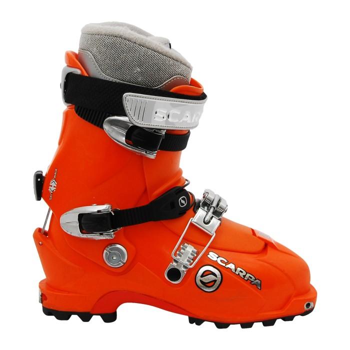 Chaussure de ski occasion de randonnée Scarpa Laser orange