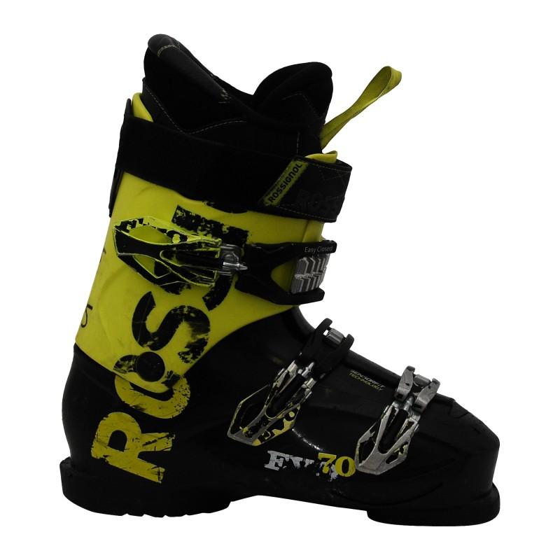 Chaussure de ski occasion Rossignol Evo 70 noir jaune qualité A