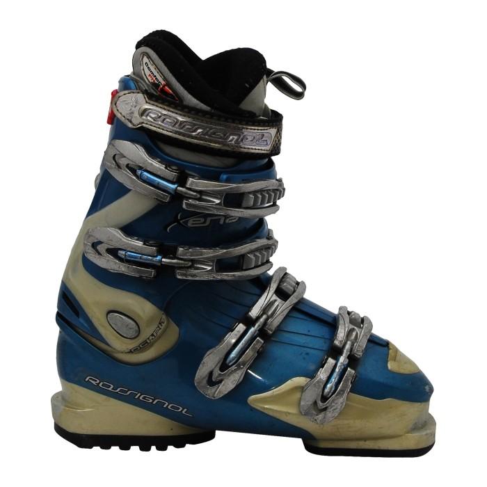 Rossignol Xena zapato de esquí usado en azul y gris
