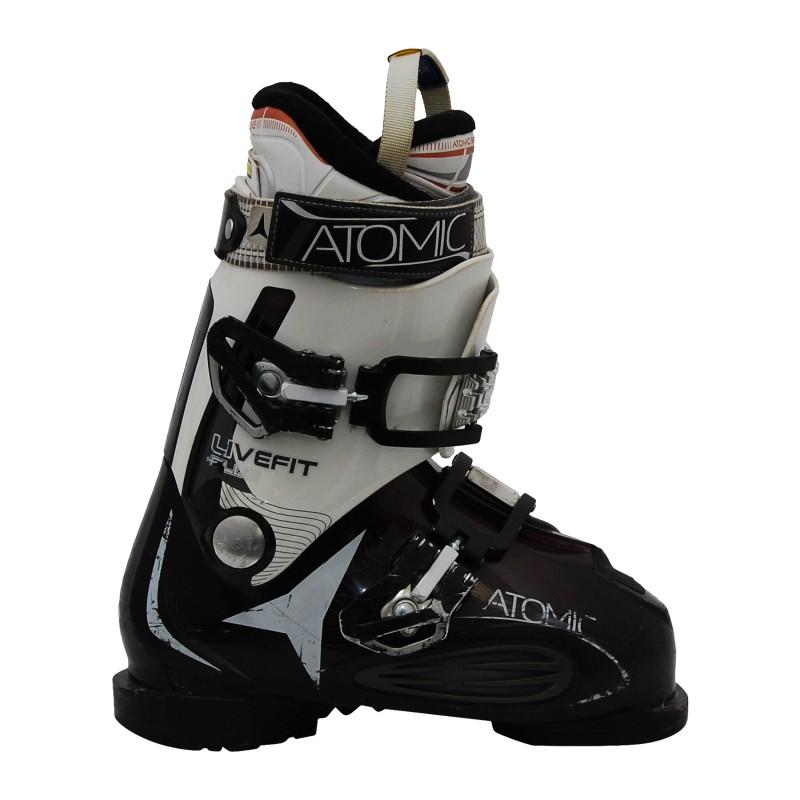 Used Ski Boots >> Chaussures De Ski Ccasion Femme Atomic Live Fit Plus Blanc Violet