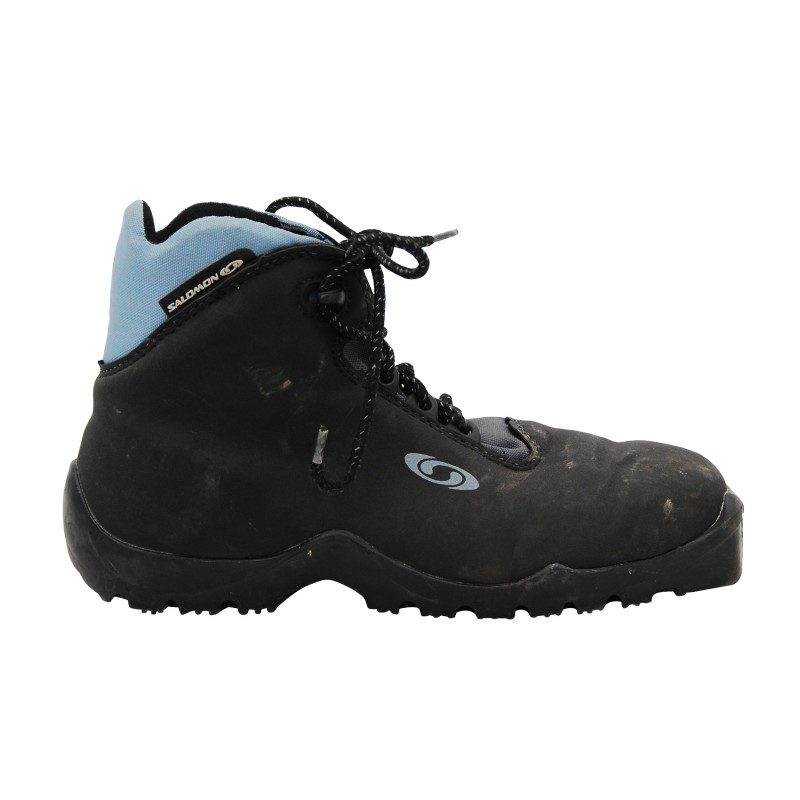Chaussure ski fond occasion Salomon classic noir bleu