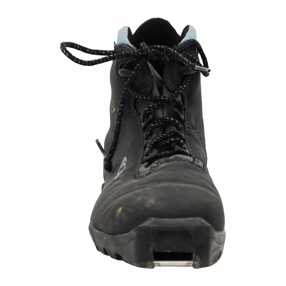 Détails sur Chaussure ski fond occasion Salomon classic noir bleu