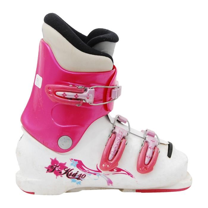 Chaussure de ski occasion junior Lange T kid 40 rose