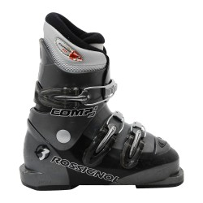 Chaussure de ski occasion junior Rossignol Comp J gris/Noir