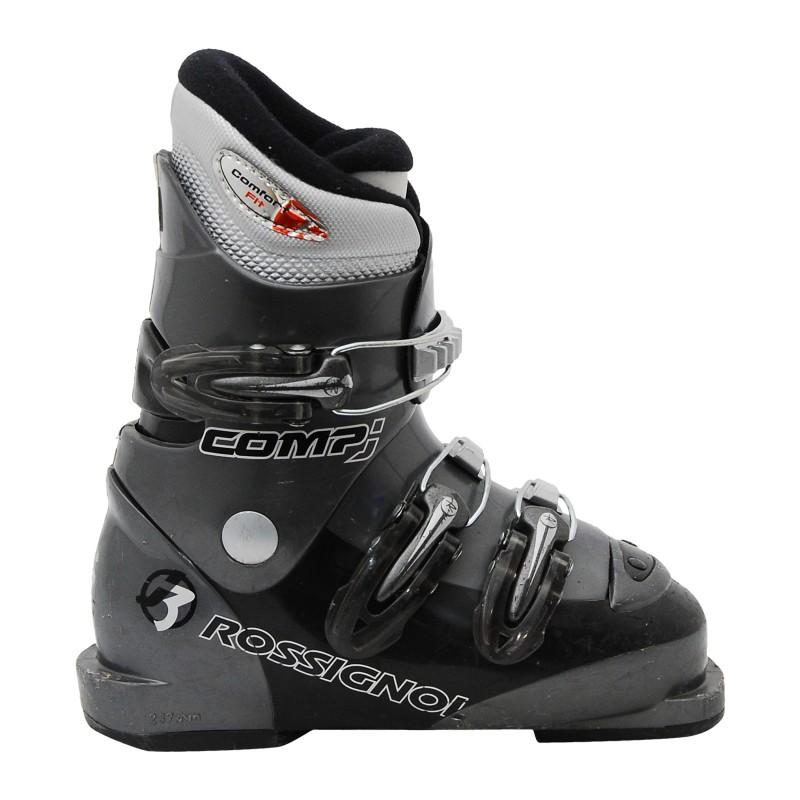 chaussure de ski occasion junior Rossignol Comp J noir/gris